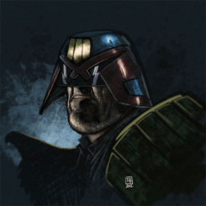 PJ Holden's Judge Dredd sketch