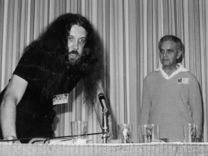 Alan Moore and Jack Kirby at the SD Con 1985