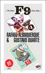 Poster celebrating Duarte and Rafael Albuquerque's  attending New York Comic Con