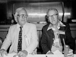 Ray Bradbury and Bill Woggon, creator of Katy Keene, in 1981