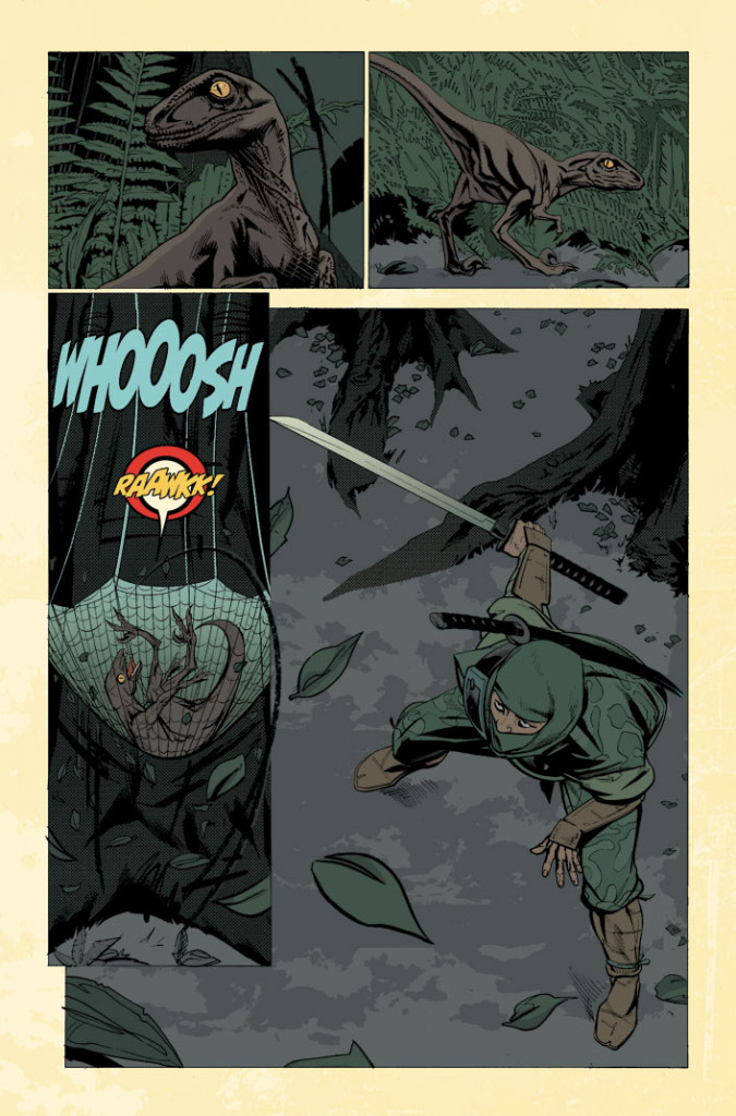 A page from Half Past Danger #3, colored by Jordie Bellaire