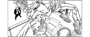 And another pre-color shot from SUPER-EGO.