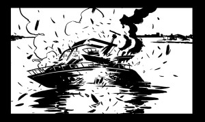 Black and white panel art from issue #21 pg 15