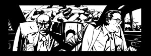 Black and white panel art from issue #23 page 1