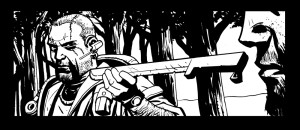Black and white panel art issue #23 page 10