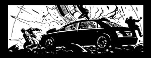 Black and white panel art issue #23 page 4