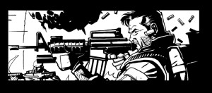 Black and white panel art from issue #23 page 5