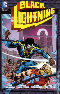 Black Lightning was DC Comics' first African-American hero with his own title (1976)