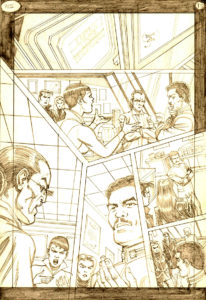 Interior penciled page of Hard Code II by Trevor Von Eeden