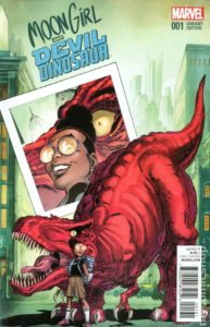 Recent alternate cover done for Marvel Comics; Moon Girl and devil Dinosaur