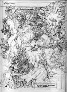 Pencil work for interior page of The Original Johnson